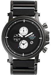 Vestal Unisex PLE022 Plexi Leather Gunmetal and Black Watch