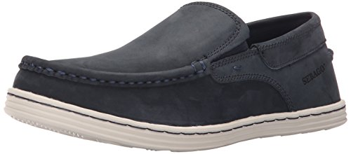 Sebago Mens Barnet Slip-on Loafer Marinen Vaxartad Läder