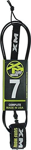 Surf More XM Regular Core Comp-lite Black Surfboard Leash - 7'