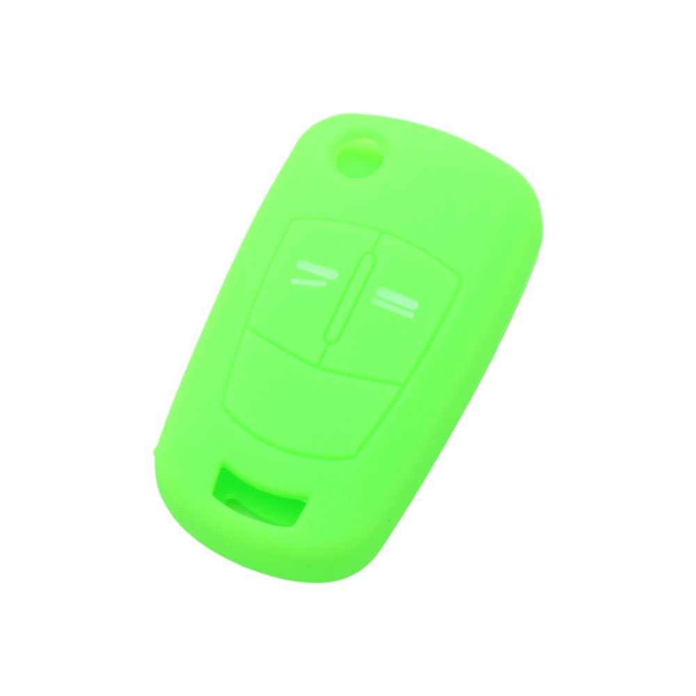 BROVACS Silicone Cover Protector Case Skin Jacket fit for VAUXHALL OPEL 2 Button Flip Remote Key Fob CV9620 Deep Blue