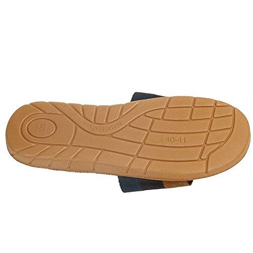 Pantoufle De Confort Pour Hommes Pantoufles Ouvertes À Lintérieur Des Chaussures Antidérapantes Pantoufles Intérieur Maison Chaussures Vert / Noir / Jaune