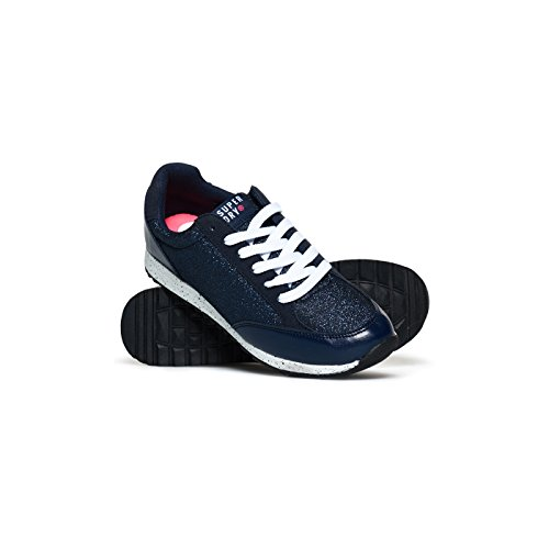 Nuit Core Bleu Superdry Navy Ink Runner Baskets Metallic 5WxSf0