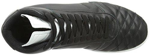 Pantofola d'Oro Cxxx High, Zapatillas Altas para Hombre Negro (0102 Nero/Bianco)