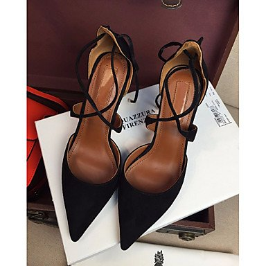 Casual Women's Comfort 2 Ruby LvYuan Pump ggx Leather Basic 3 Almond us8 uk6 Real Comfort Heels Summer eu39 4in cn39 ruby Basic Pump Black 2in qx5pwzF5X