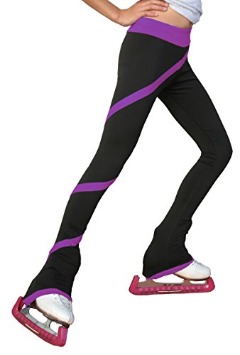 ChloeNoel P06 - Spiral Figure Skating Pants Purple Child Extra Large/Adult Extra Small by ChloeNoel