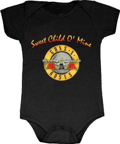 Guns N Roses Sweet Child O Mine Infant Baby Rock And Roll Creeper Romper  0 6 Months