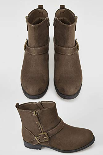 Boots Brown Women's Yours Buckled Eee Clothing Fit Fit In Ankle Wide FwwSqY