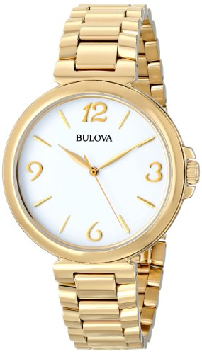 Bulova Women's 97L139 Analog Display Japanese Quartz Yellow Watch