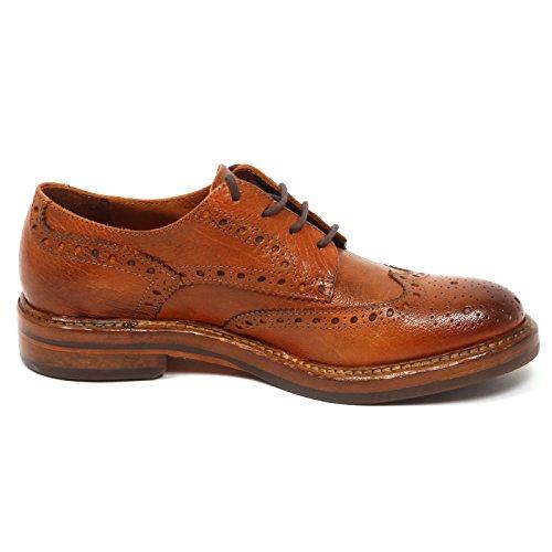 Inglese Shoe scuro Scarpa Cuoio Donna cuoio 100 Woman E0444 Vintage HUNDRED q0Ztv
