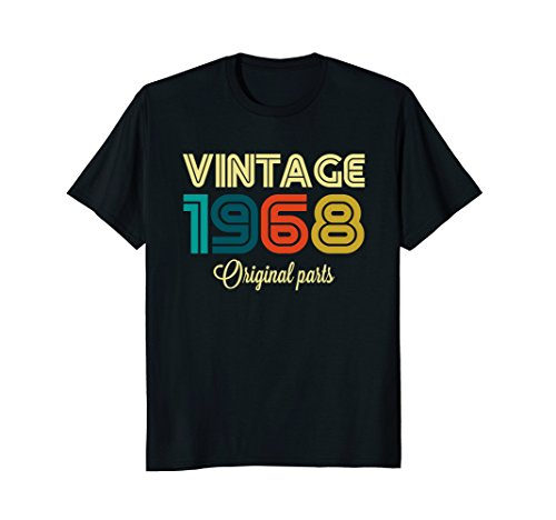 Vintage 1968 Funny Old School 50th Retro Gift T-shirt