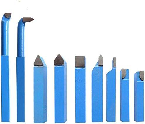 9本セット 旋盤工具 切削バイト 精密 耐摩耗性 小型 自作旋盤 旋削工具 超硬旋盤用ツール