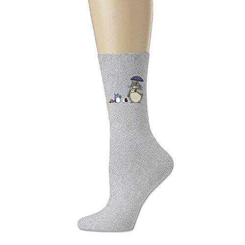 Unisex My Neighbor Totoro Personalize Custom Comfort Ultimate Crew Socks Ash