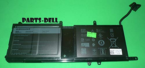 (New Dell Battery 99Wh 11.4V for Dell Alienware 15 R3 and 17 R4, Dell Part Number MG2YH Type 9NJM1 )