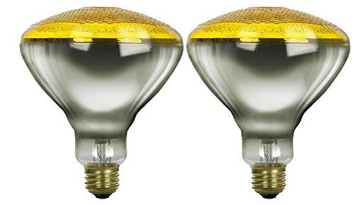 Pack Of 2 100BR38/FL/Y Incandescent 100-Watt, Floodlight, Medium Based (E26), BR38 Reflector Colored Bulb, Yellow