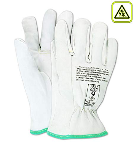 "14/"" High Voltage Protector Glove With A grade Cow Leather Size 10"