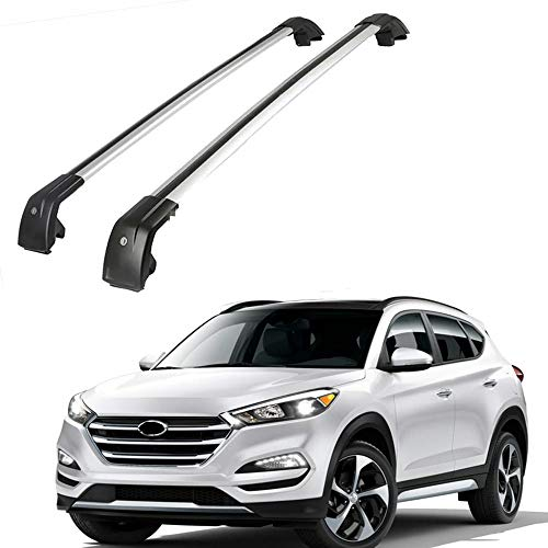 MotorFansClub Crossbars Fit for Hyundai Tucson 2016 2017 2018 Lockable Baggage Luggage Racks Roof Racks Rail Cross Bar (2 PCS)
