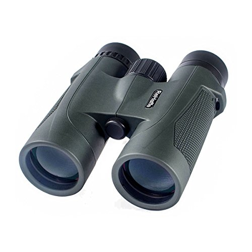 ReHaffe Compact Binoculars for Adults 8×42 Light-Weighted Waterproof for Bird Watching High Power Image Stabilized for Outdoor Sightseeing (Army Green)