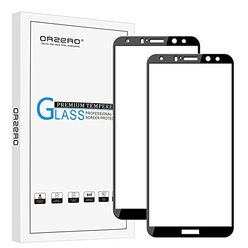 [2 Pack] Orzero For Huawei Mate 10 Lite (Not For Mate 10 Pro) Tempered Glass Screen Protector, 2.5D Arc Edges 9 Hardness HD Anti-Scratch Full-Coverage [Lifetime Replacement Warranty]