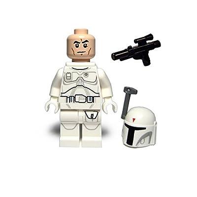 LEGO Star Wars Minifigure - Boba Fett White Proto Prototype (2015): Toys & Games