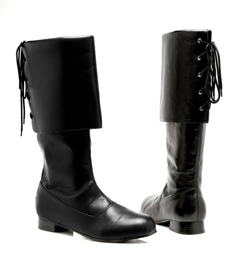 Funtasma by Pleaser Men's Halloween Pirate-100,Black,L - Mens Black Pirate Boots