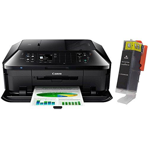 Canon PIXMA MX922 Wireless Inkjet Office All-In-One Printer + PGI-250XLBK Ink Cartidge Bundle (Black)