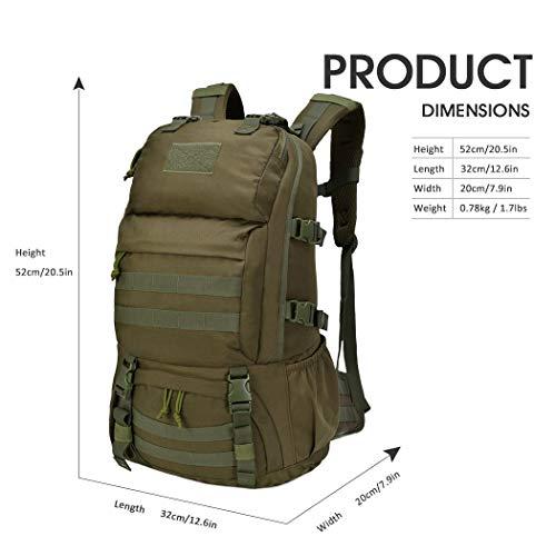 Mardingtop Sac à dos militaire tactique 25 L/28 L pour randonnée, voyage, trekking, tactique, sac tactique, sac à dos… 2