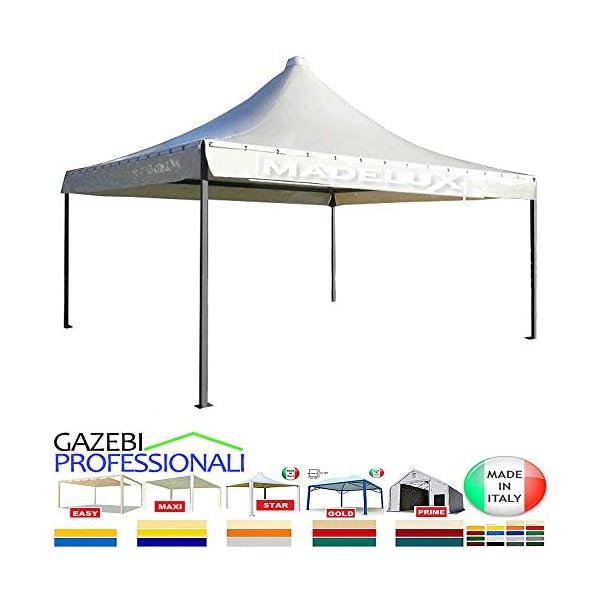 MadeluX Gazebo 6x6 Professionale Certificato e Personalizzabile Stand Eventi Pagoda ignifugo Padiglione pergola tettoia… 1 spesavip