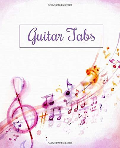 Download Guitar Tabs Notebook: Watercolor Music Class Notebook: Music Notes  Notebook Music ebook