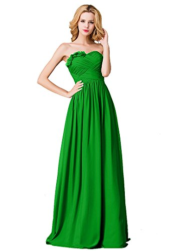 Selena Huan Bridal Sweetheart Strapless Full-Length Chiffon Bridesmaid - Sweet Selena