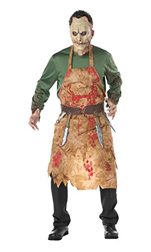 Mens Halloween Bloody Butcher Costumes Zombie Suits
