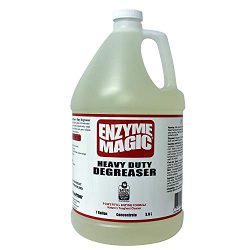 ENZYME MAGIC Heavy Duty Degreaser; Industrial Strength to Clean Grease,Oil&Stains of Concrete, Decks, Floors, Tools, auto Parts. Non-Toxic,Natural ((1) 1gal Concentrate Bottle) (Industrial Strength Degreaser)