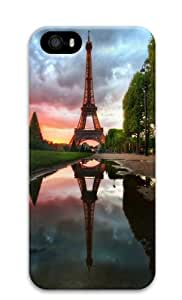 Eiffel Tower Reflection Polycarbonate Hard Case Cover for iPhone 5/5S