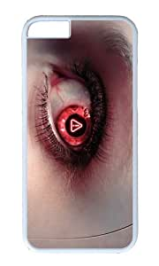 MOKSHOP Adorable cyborg eye Hard Case Protective Shell Cell Phone Cover For Apple Iphone 6 Plus (5.5 Inch) - PC White