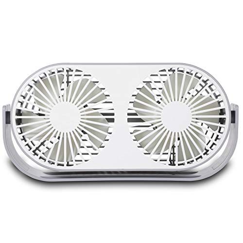 9 Inch Mini USB Desk Fan 3 Speeds 10 Fan Blades Dual Modes with Aromatherapy Box USB Powered ONLY