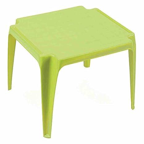 Tavolo Da Giardino In Plastica Verde.Tavolo Da Giardino In Plastica Tavolino Cm 55x50 Verde Lime Ipae