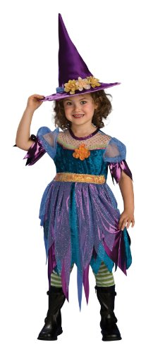 Cute as Can Be Toddler Costume, Witch - Green And Purple Striped Witch Child Costumes