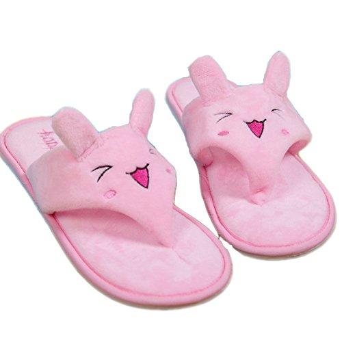 Ea @ Mercato Estate Delle Donne Cute Cartoon Peluche Pantofole Infradito Coniglio Rosa