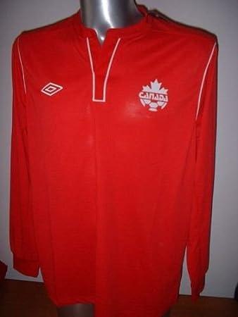 Canadá Umbro Adulto BNWT XL Camisa Jersey Fútbol Uniforme L/S Trikot Manga Larga Rara Top