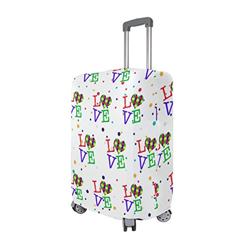 Love Heart Travel Luggage Cover - Suitcase Protector HLive Spandex Dust Proof Covers with Zipper, Fits 18-32 inch by HLive (Image #1)