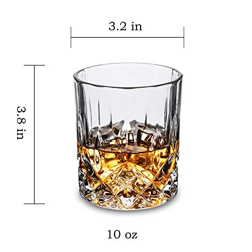 KANARS Double Old Fashioned Whiskey Glasses With Luxury Gift Box - Rocks Barware For Scotch, Bourbon and Cocktail Drinks - Set of 4 by KANARS (Image #3)