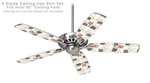 Elephant Love - Ceiling Fan Skin Kit fits most 42 inch fans (FAN and BLADES NOT INCLUDED)