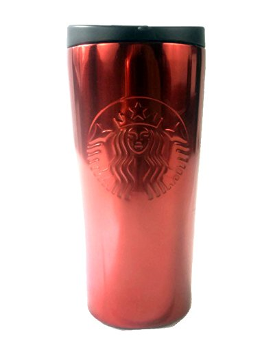 Starbucks RED Stainless Steel Coffee Tumbler Thermos Siren Logo (RED)