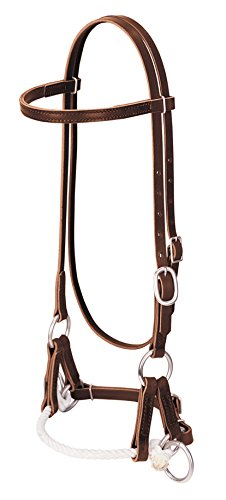 Weaver Leather Deluxe Latigo Leather Side Pull, Single Rope