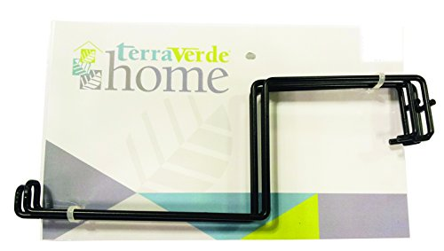 - Terra Verde Home 91360 Deck Rail Flower Box Holder, Black
