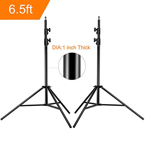 Update 78inch/6.5 Ft/200CM Photography Tripod Light Stands for Photo Studio Relfectors Softboxes Lights Umbrellas Backgrounds Video Lighting Studio Monolight Studio Kits Aluminum Alloy(6.5ft X2)