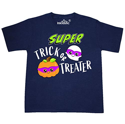 inktastic - Super Trick or Youth T-Shirt Youth X-Large (18-20) Navy 31e52 -