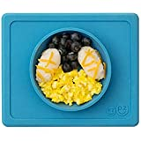 ezpz Mini Bowl - One-Piece Silicone placemat + Bowl (Blue)