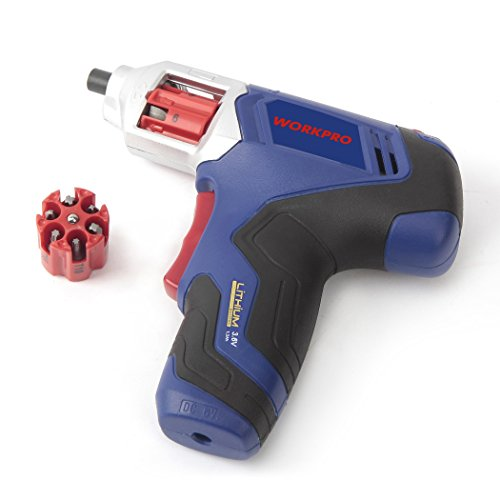 WORKPRO Cordless Rechargeable Power Screwdriver Lithium-ion 3.6V with Quick Change Bits by WORKPRO (Image #2)