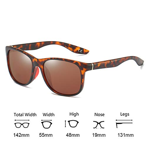 UV400 de de Brown Lens Hommes Lunettes BE006 Lunettes Leopard Soleil Femmes Sport BLEVET Polarisées Frame Classique wqUvFZ8B