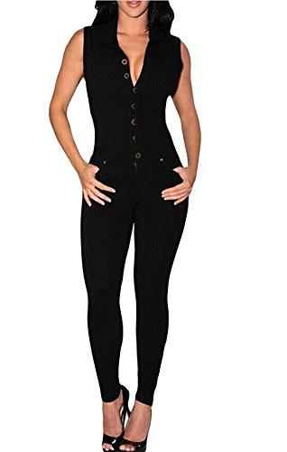 Notched Collar Pant Suit - 4